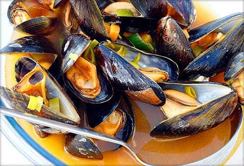 mussels in stout beer sauce
