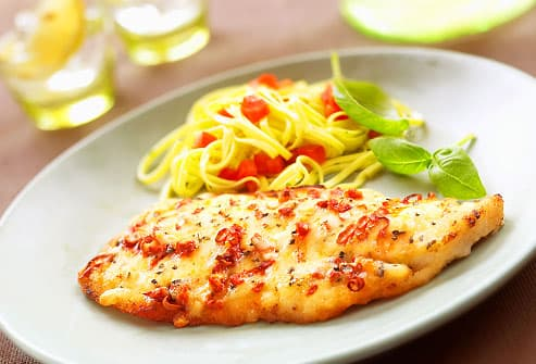 roast tilapia with cheese