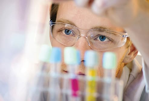 researcher working in the laboratory
