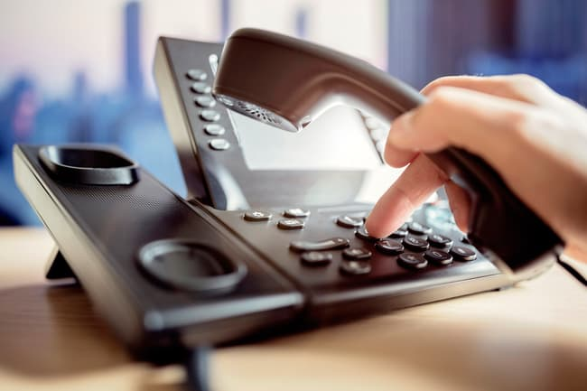 dialing office phone
