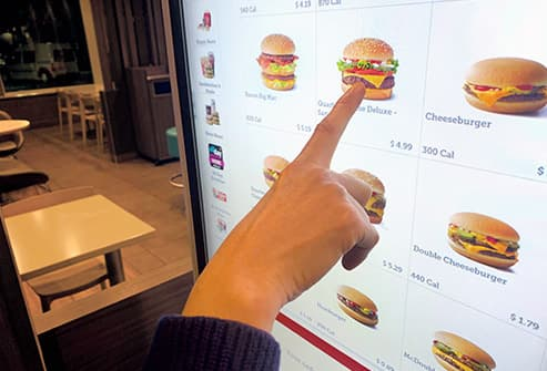 fast food touch screen
