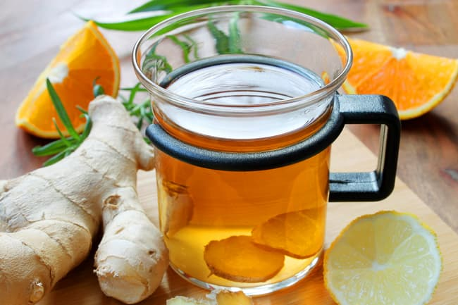 photo of ginger tea