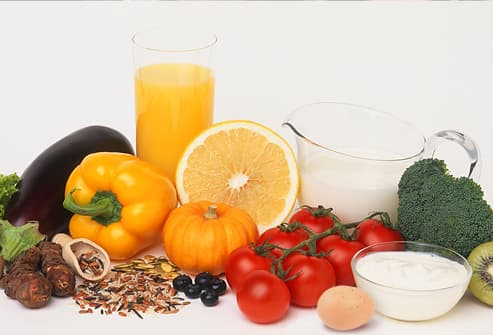 Fresh fruits, vegetables, grains and dairy