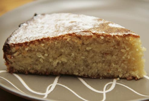 slice of almond cake