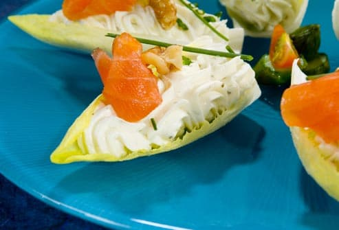 stuffed endive with salmon