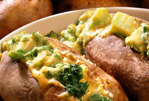 cheesy stuffed potato