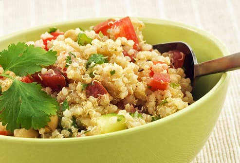 basil quinoa with red pepper