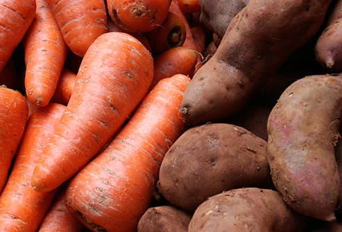 sweet potatoes and carrots lorange