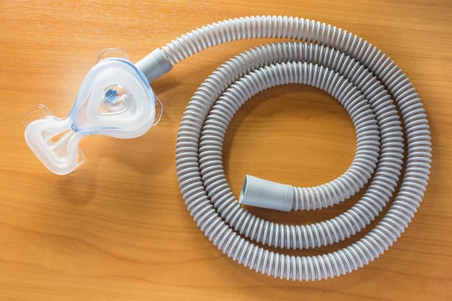 photo of cpap mask and tube