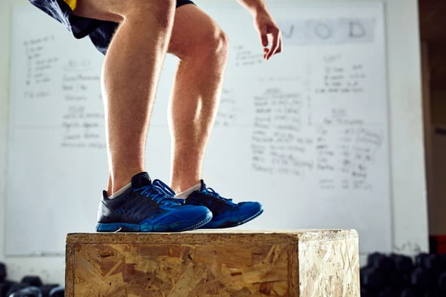 box jump exercise close up
