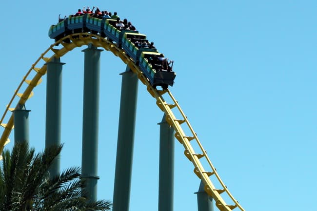 photo of roller coaster