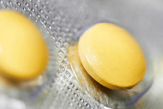photo of pills in blister pack close up