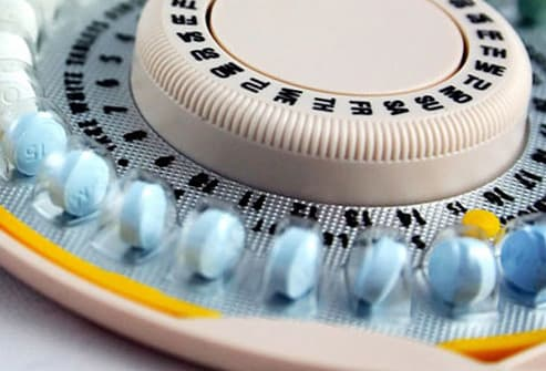 birth control pills close up