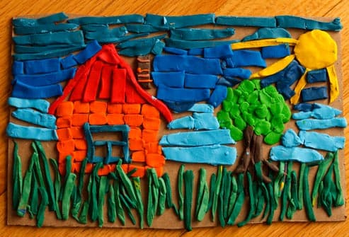 picture made with modeling clay
