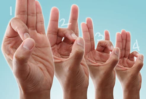thumb touch exercise sequence