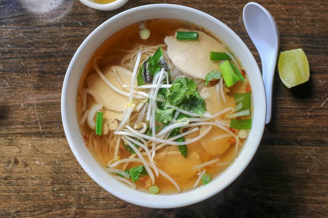 photo of chicken pho
