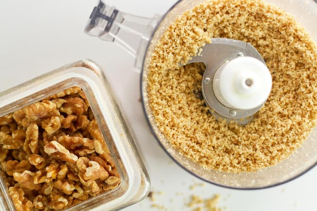 walnuts and food processor