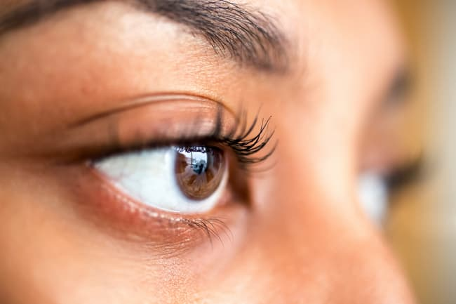 photo of woman's eyes close up