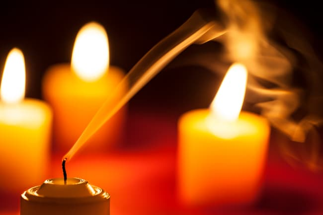 photo of candle going out