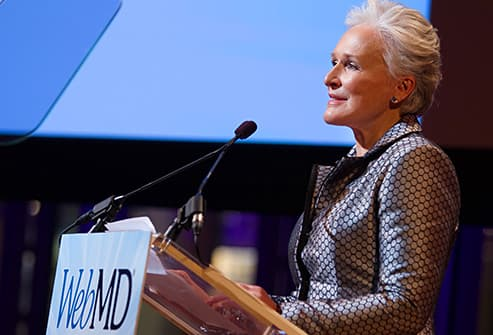 glenn close at accepts award