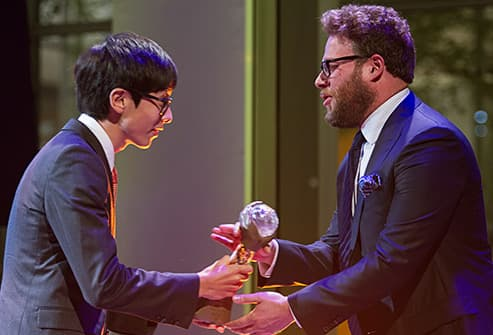 seth rogan presents to shinozuka