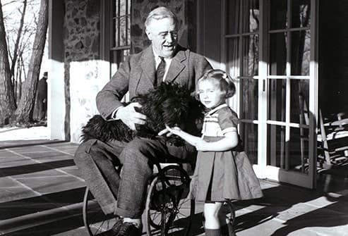 photo of franklin delano roosevelt in wheelchair