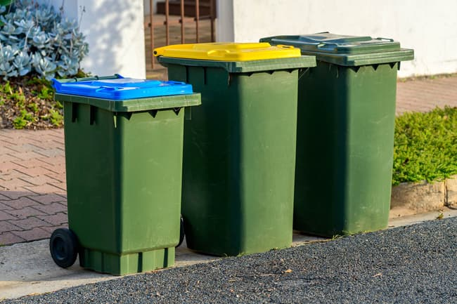 photo of trashcans