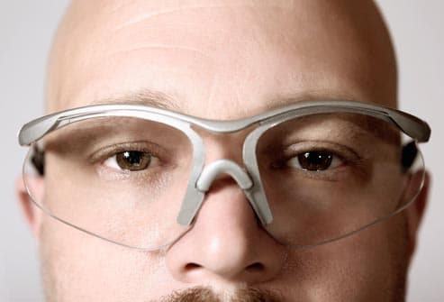 man wearing protective eyewear
