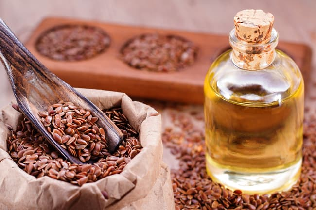 photo of flaxseed oil