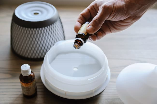 photo of essential oils diffuser