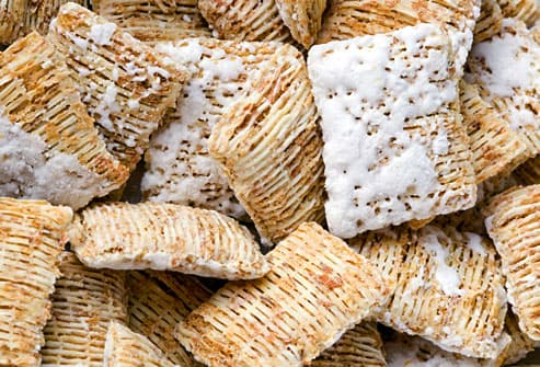 Frosted shredded wheat cereal