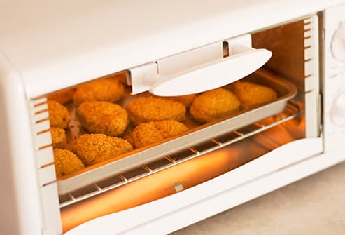 broiling chicken nuggets in toaster oven