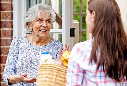 woman shopping for senior neighbor