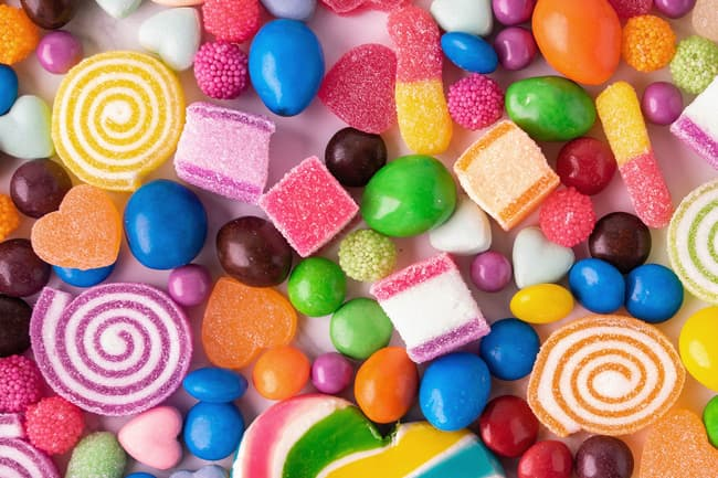 variety of candies