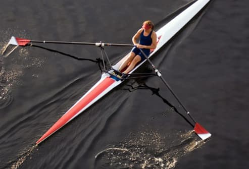 woman rowing a scull