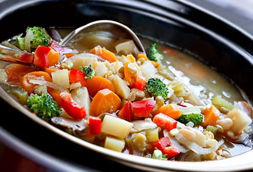 vegetables in slow cooker