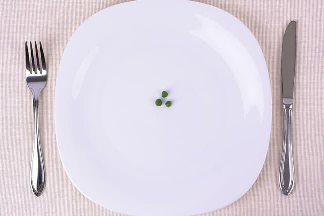 photo of three peas on a plate