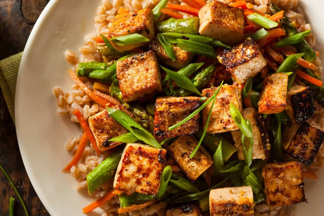 photo of tofu stirfry