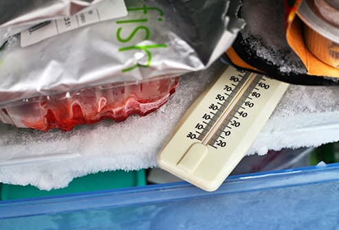 thermometer in freezer