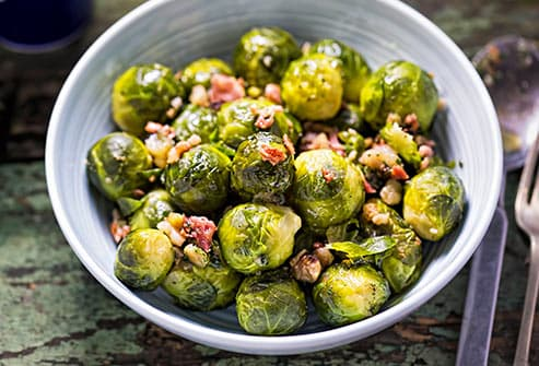 bacon on brussels sprouts