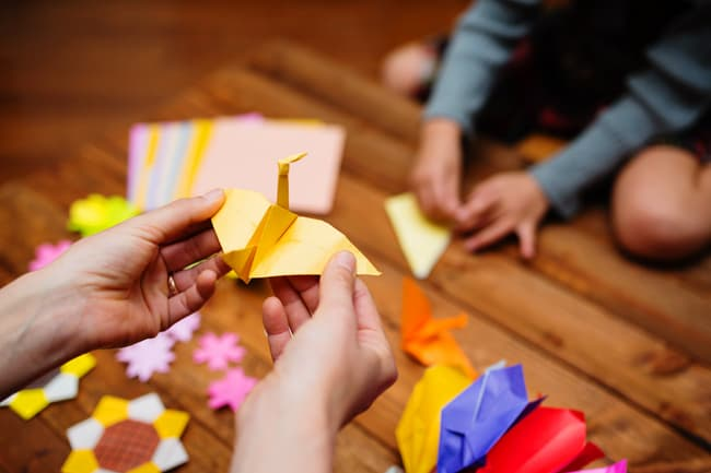 photo of origami class