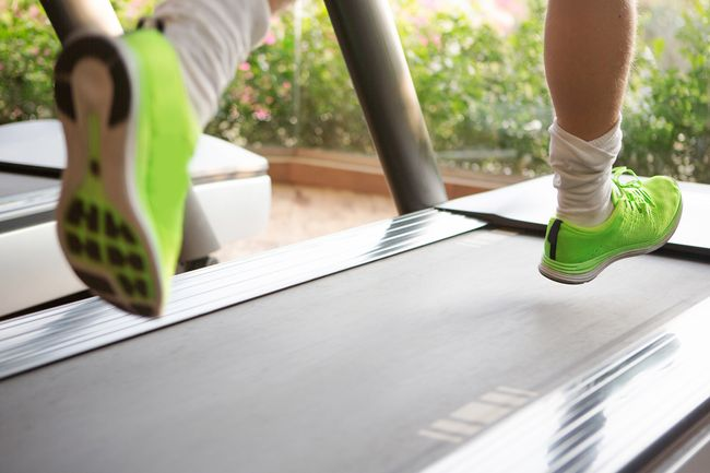photo of someone running on treadmill