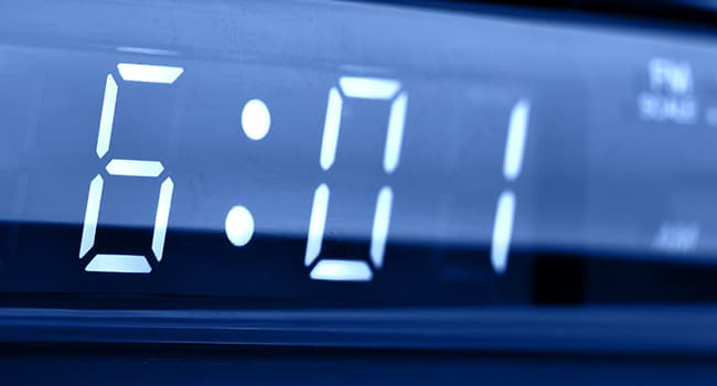 digital alarm clock close up