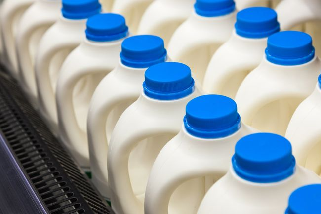 photo of gallons of milk