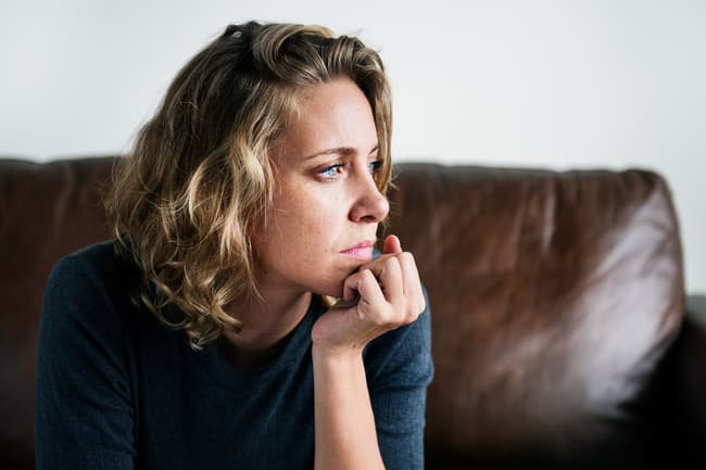 photo of woman with anxiety