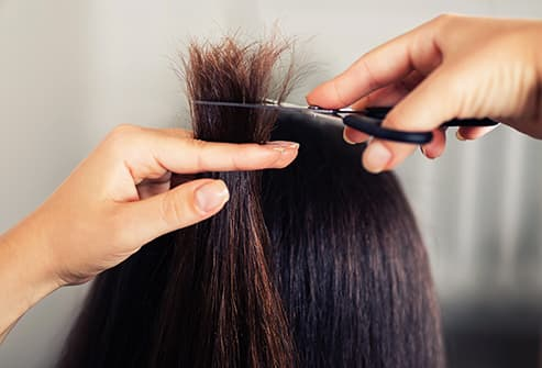 clipping split ends