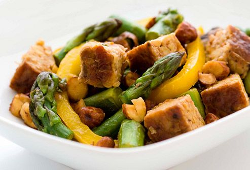 asparagus and tempeh stir fry