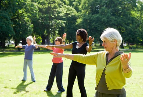 Women Practicing Tai Chi