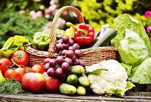 fresh produce in basket