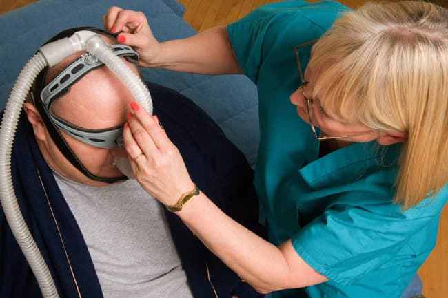 photo of fitting for cpap